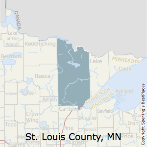 St._Louis,Minnesota County Map