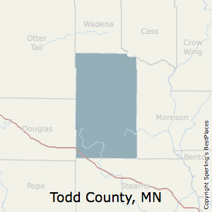 Todd,Minnesota County Map