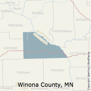 Winona,Minnesota County Map
