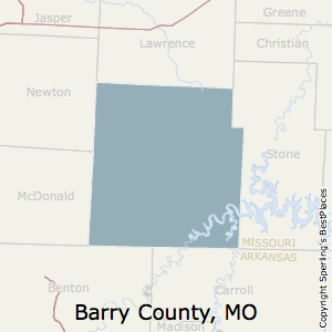 Barry,Missouri County Map