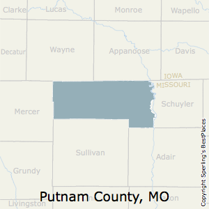 Putnam,Missouri County Map