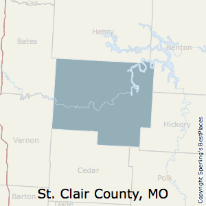 St._Clair,Missouri County Map