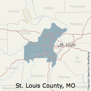 St._Louis,Missouri County Map