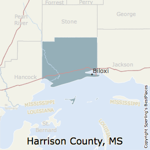 Best Places To Live In Harrison County Mississippi - Ms county map