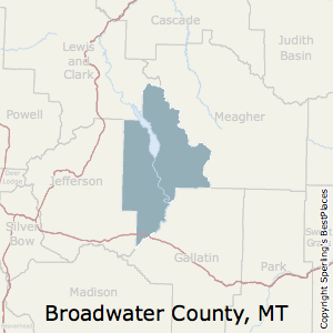 Broadwater,Montana County Map