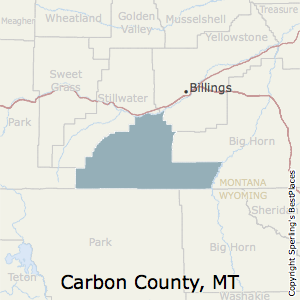 Carbon,Montana County Map