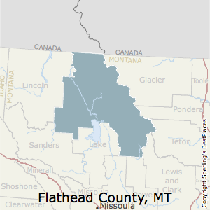 Flathead,Montana County Map