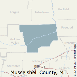 Musselshell,Montana County Map