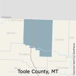 Toole,Montana County Map