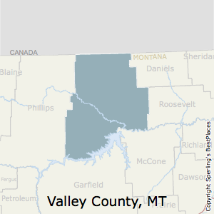 Valley,Montana County Map