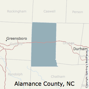 Alamance,North Carolina County Map