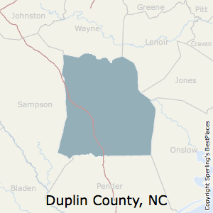 Duplin,North Carolina County Map
