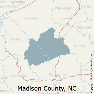 Madison,North Carolina County Map
