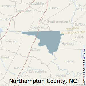 Northampton,North Carolina County Map