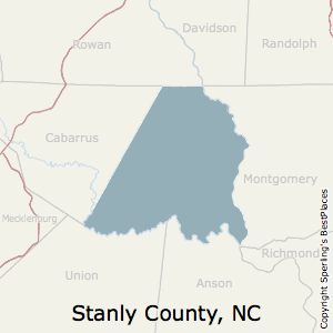 Stanly,North Carolina County Map