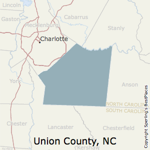 Union,North Carolina County Map