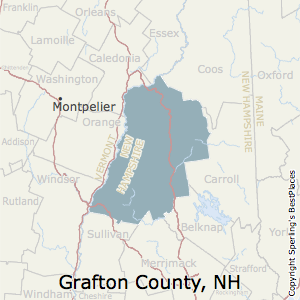 Grafton,New Hampshire County Map