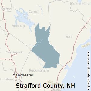 Strafford,New Hampshire County Map