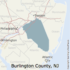 Burlington,New Jersey County Map