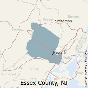 Essex,New Jersey County Map
