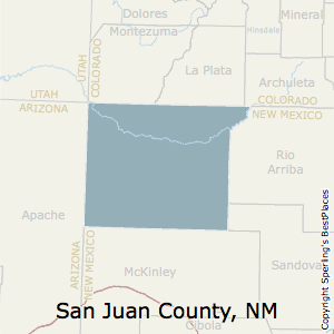 San_Juan,New Mexico County Map