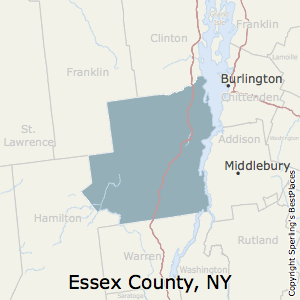 Essex,New York County Map