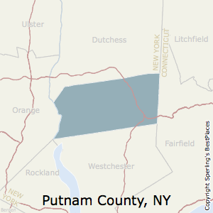 Putnam,New York County Map