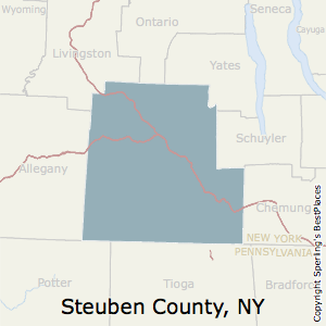 Steuben,New York County Map
