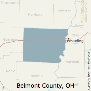 Belmont,Ohio County Map