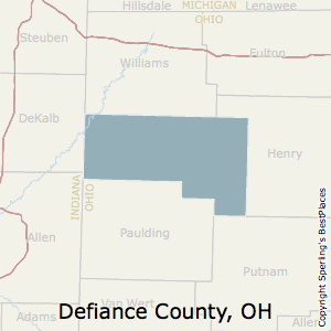 Defiance,Ohio County Map