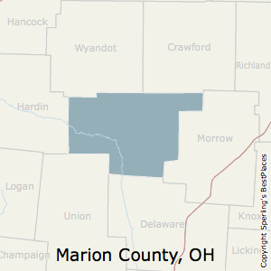 Marion,Ohio County Map