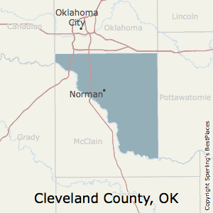Cleveland,Oklahoma County Map