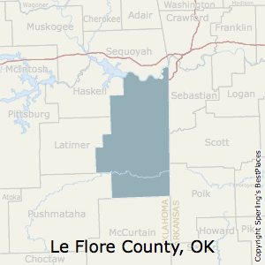 Le_Flore,Oklahoma County Map