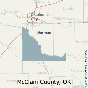McClain,Oklahoma County Map