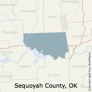 Sequoyah,Oklahoma County Map