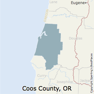 Coos,Oregon County Map