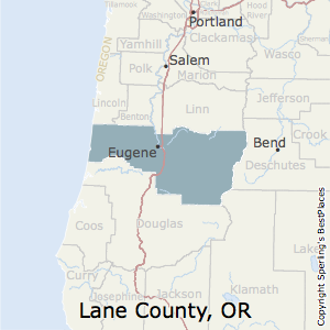 Lane,Oregon County Map