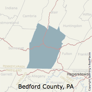Bedford,Pennsylvania County Map