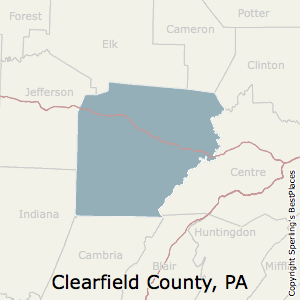 Clearfield,Pennsylvania County Map