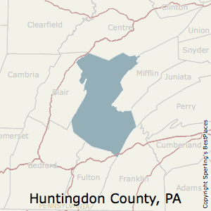 Huntingdon,Pennsylvania County Map
