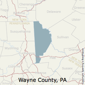 Best places to live in wayne county pennsylvania waynepennsylvania county map sciox Choice Image