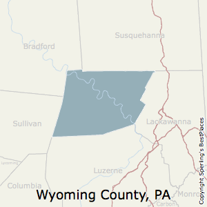 Best Places To Live In Wyoming County Pennsylvania - Wyoming county map