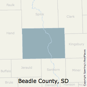 Beadle,South Dakota County Map
