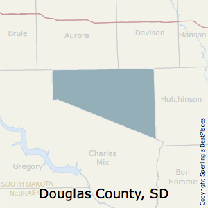 Douglas,South Dakota County Map