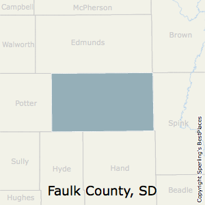 Faulk,South Dakota County Map