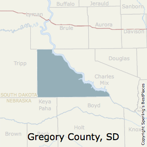Gregory,South Dakota County Map
