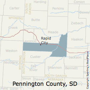 Pennington,South Dakota County Map