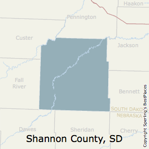 Shannon,South Dakota County Map