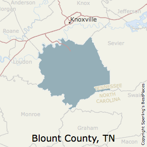 Blount,Tennessee County Map