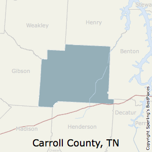 Carroll,Tennessee County Map